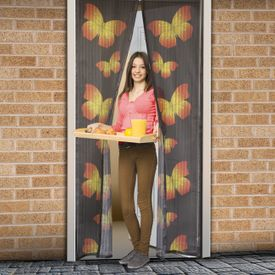 Magnetická sieťka na dvere 210 cm s motýľmi