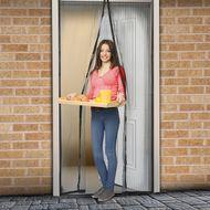 Magnetická sieťka na dvere 210 cm čierna