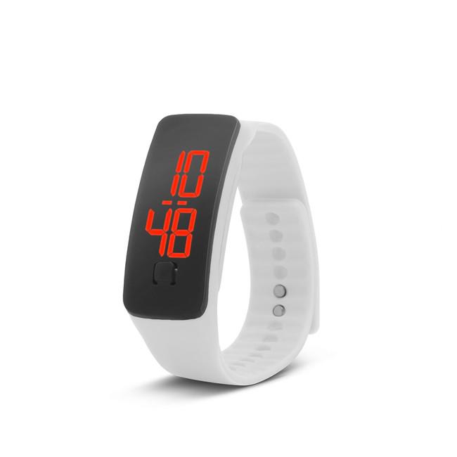 Silikónové hodinky s LED displejom - biele zväčšiť obrázok 3d63d8b6d05